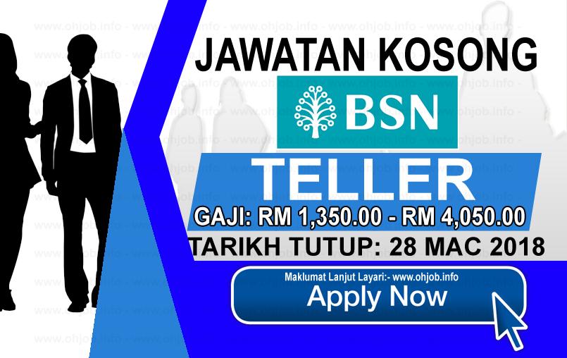 Jawatan Kerja Kosong BSN - Bank Simpanan Nasional logo www.ohjob.info mac 2018