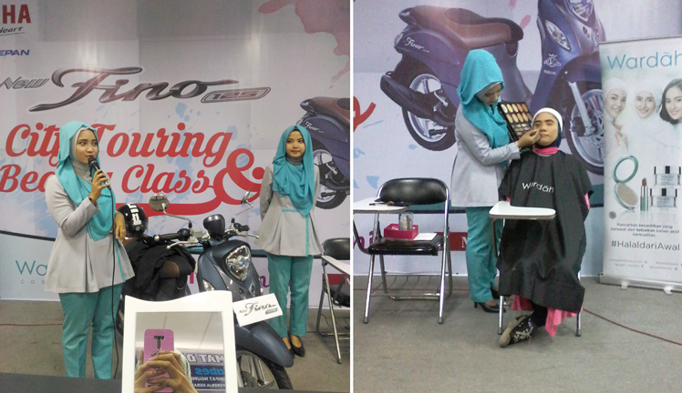 Beauty Class & City Touring With Yamaha Fino