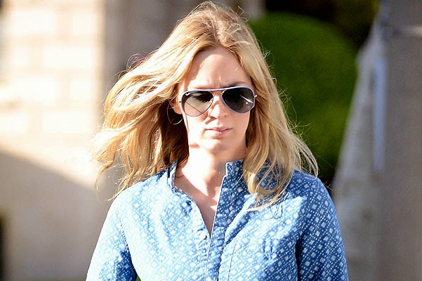 Emily Blunt appeared in public for the first time after the birth of daughter