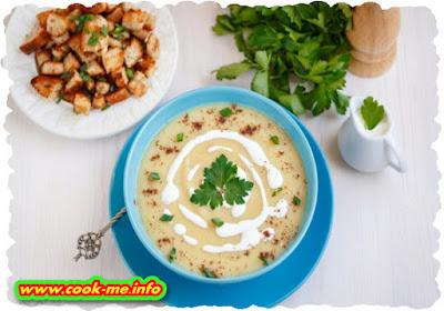 Potato puree soup