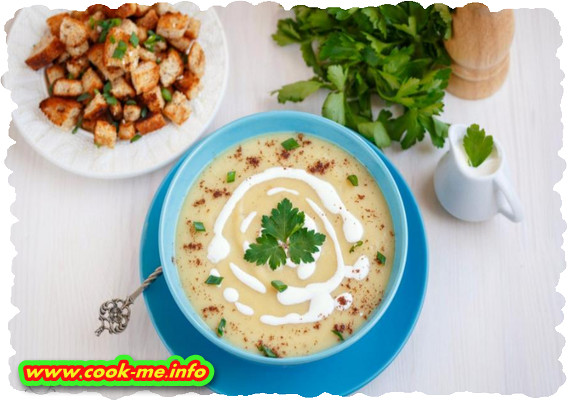 Potato puree soup