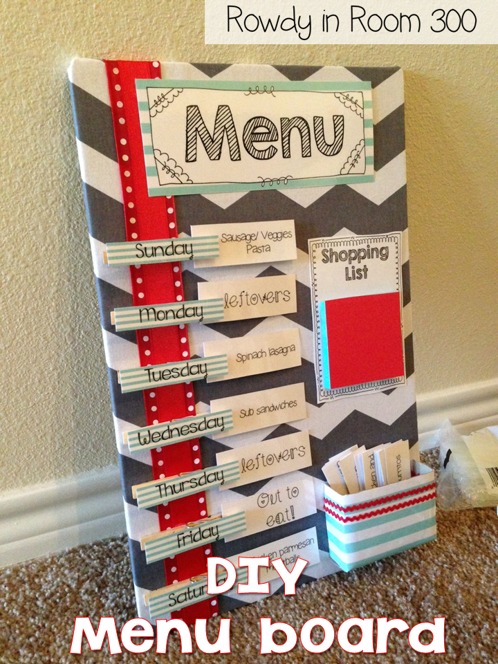 Menu board! - Rowdy in Room 300