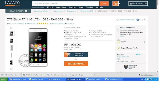 Ganti Smartphone, Yuk Dengan ZTE Blade A711