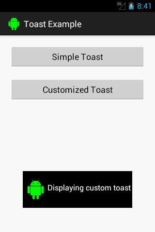 Android Custom Toast