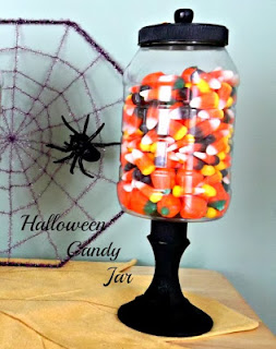Vintage, Paint and more... DIY Halloween candy jar