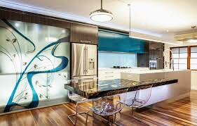 Modern kitchen design ideas with Wall Murals and artistic