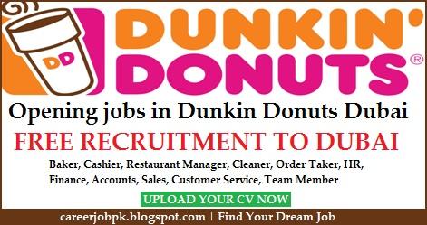 Dunkin Donuts jobs in Dubai UAE
