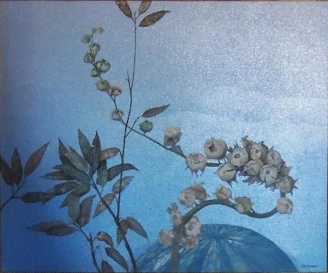 Iris Lázaro pintura naturaleza arte hojas y flores