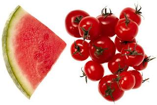 gambar semangka dan tomat
