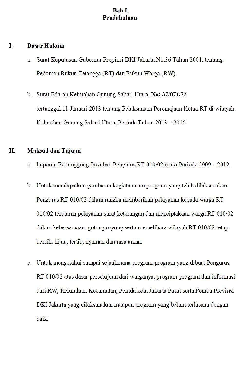 Rt 010 Rw 02 Laporan Pertanggungjawaban Ketua Rt 010 02 Periode 2009 2012