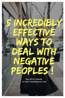 5 ways to deal with negative people