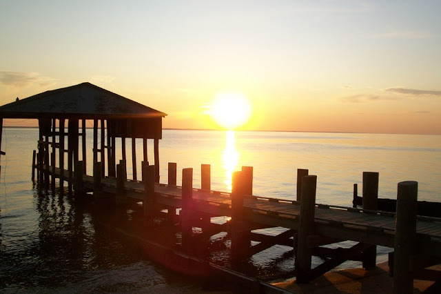 Golden Sunset and Dock at Virginia Beach