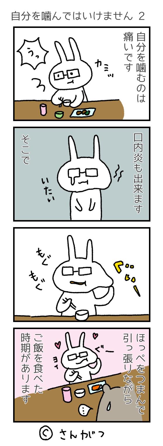 歯科矯正の漫画 18 自分を噛んではいけません編