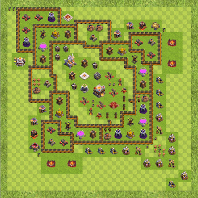 War Base Town Hall Level 11 By Dzd (anti air TH 11 Layout)