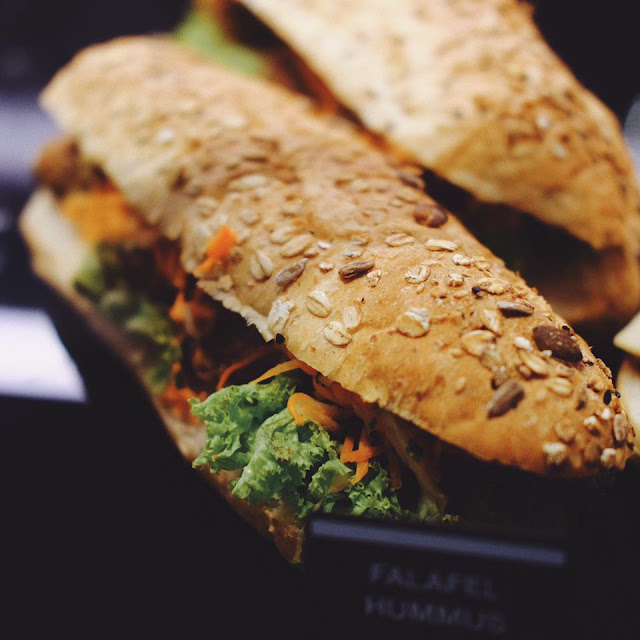 Falafel Hummus Sandwich