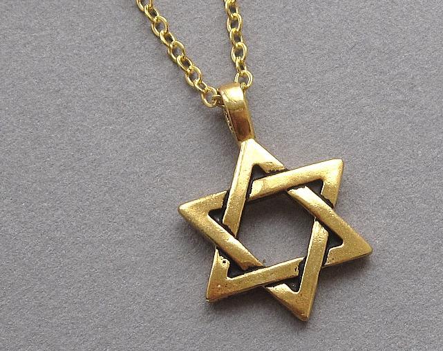 Jewish jewelry pendant
