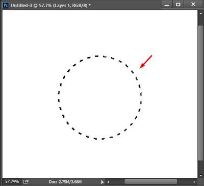 membuat lingkaran putus putus di photoshop