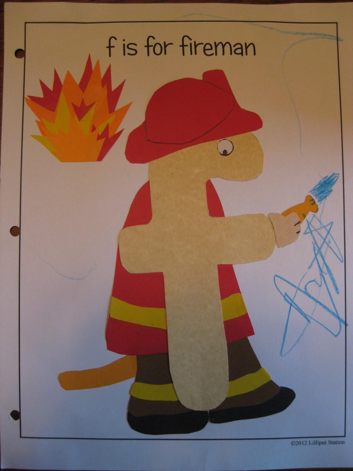 Lilliput Station F Is For Fireman Free Printable