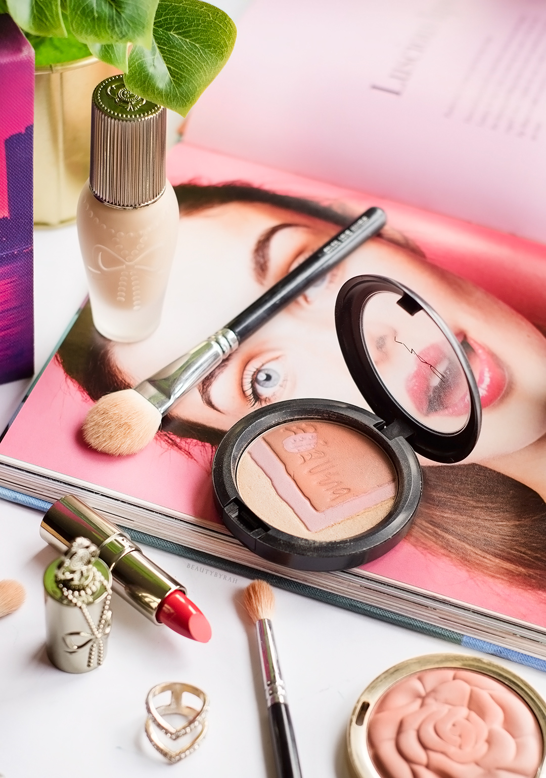 Eleanor Hydra Liquid Foundation and Satin Lipstick Sasa