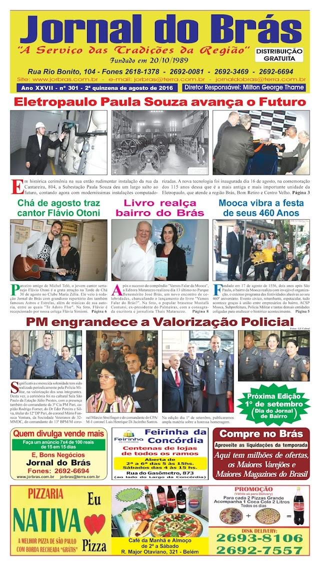 Destaques da Ed. 301 - Jornal do Brás