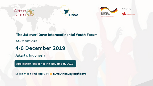 African Union 1st iDove Intercontinental Youth Forum in Southeast Asia Fully Funded