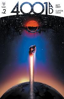 Valiant prépare son été avec un event d'ampleur cosmique: 4001 A.D. Cet énorme cross-over touchera la majorité des titres de l'éditeur et aura une mini-série qui sera le cœur de l'événement. Les 4 numéros de 4001 A.D. seront écrit par Matt Kindt et dessiné par Clayton Crain. Le cross-over se tiendra de mai à août 2016.      Voici les couvertures de la mini-série par Clayton Crain :      Valiant comics: 4001 A.D.
