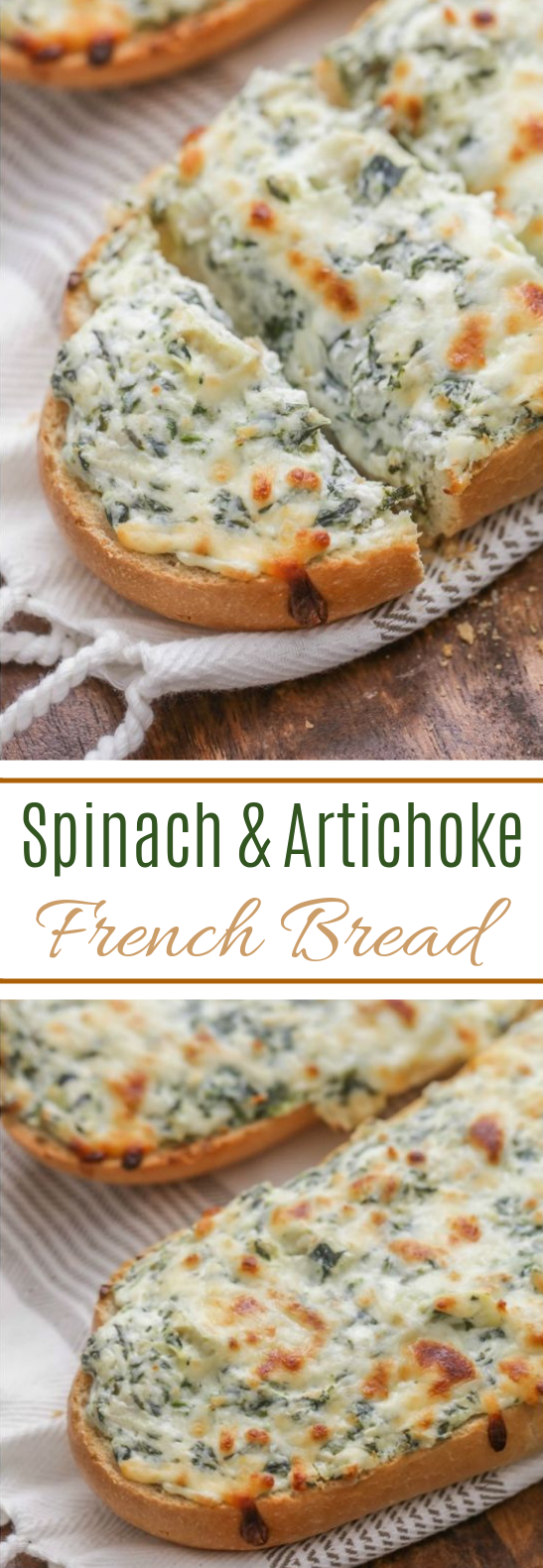 Spinach Artichoke French Bread #appetizer #vegan
