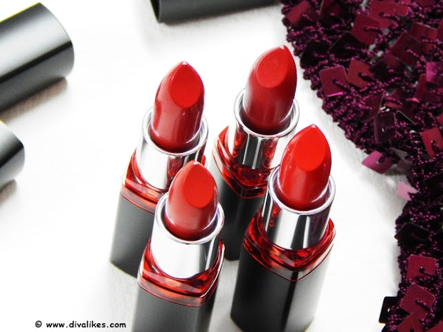 Maybelline Color Show Big Apple Red Lipstick Collection