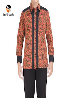 model baju batik atasan pria