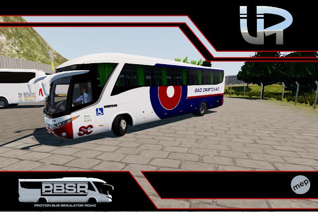 Skin Proton Bus Simulator Road - G7 1200 MB O-500 RS Viação São Cristovão