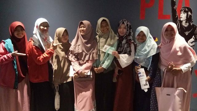 Nobar Film 5 Penjuru Masjid di Lampung
