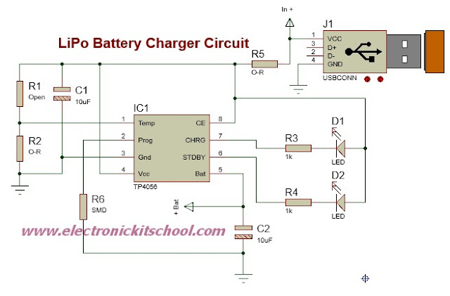 Multi Cell Lithium Ion Battery Charger Circuit Schematic  Lithium Ion Battery Charger Electronic