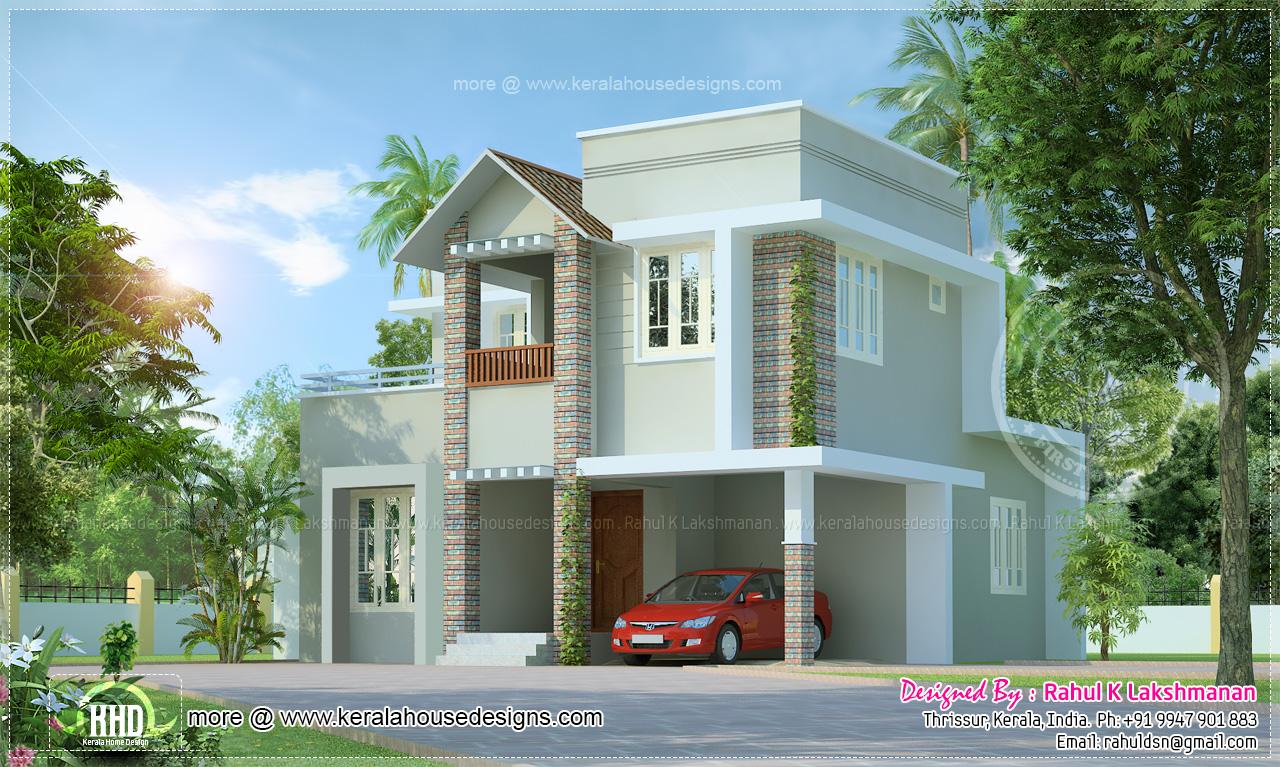 Small Cute Villa In 1354 Square Feet Kerala Home Design