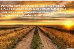Ibadurrahman Adalah Hamba Allah Yang Rendah Hati.