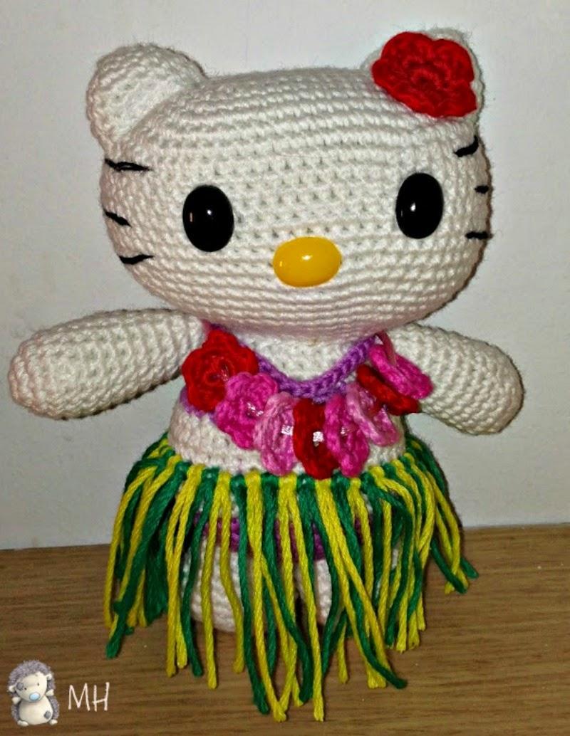 Hello Kitty hawaiana amigurumi