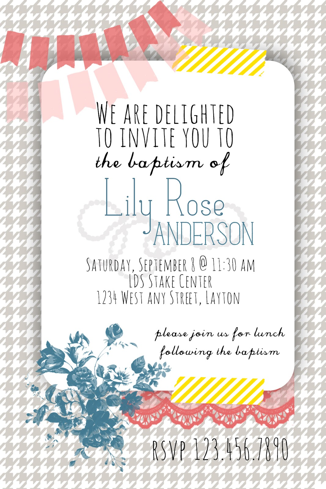 Love Notes By Lauryn: Free Blank Customizable Invite Printable