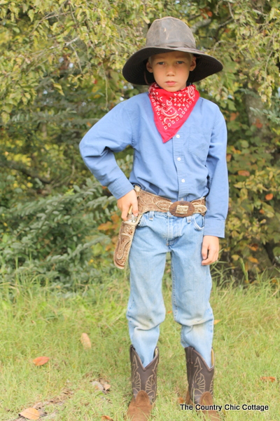 cowboy halloween costume from thrift store