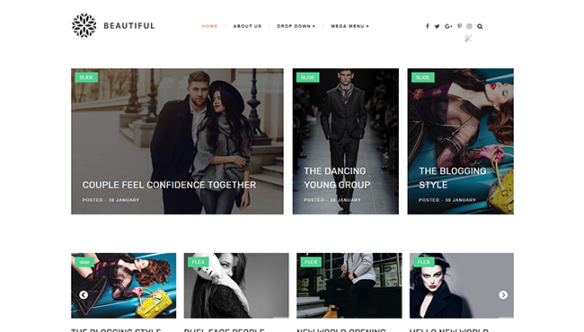 Beautiful Template is a premium Fashion Free Download Beautiful - Blogger Template