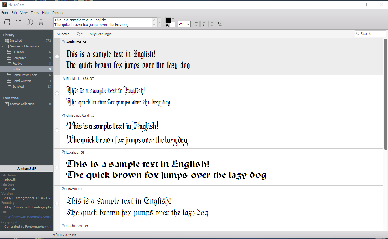 Managing Your Fonts With NexusFont - SL-Inspiration