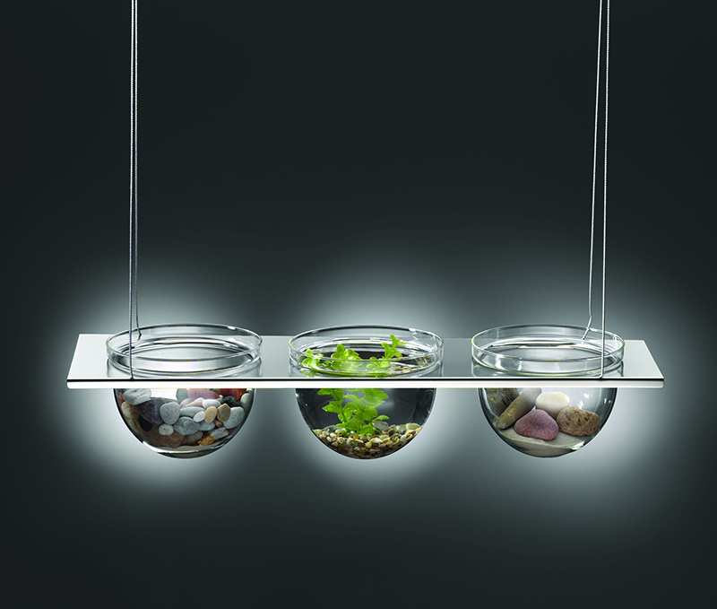 Suspended Glass Display Bowls
