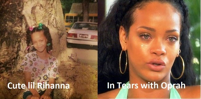 Image result for rihanna when she is young