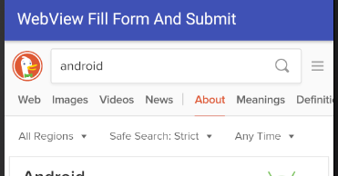android - WebView fill form and submit programmatically