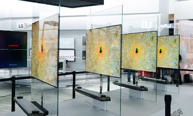 LG's W7 wallpaper OLED TV