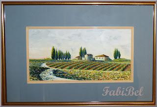gouache paysage toscane gouache tuscany landscape