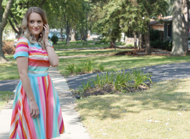 SheIn summer striped dress styled by Chicago blogger, Jessica Lynna