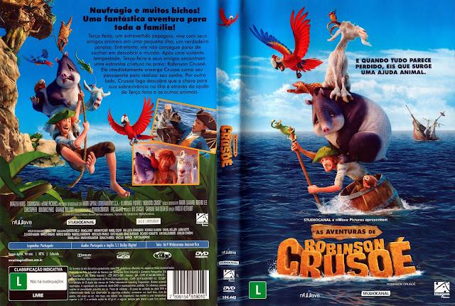 Capa DVD As Aventuras de Robinson Crusoé