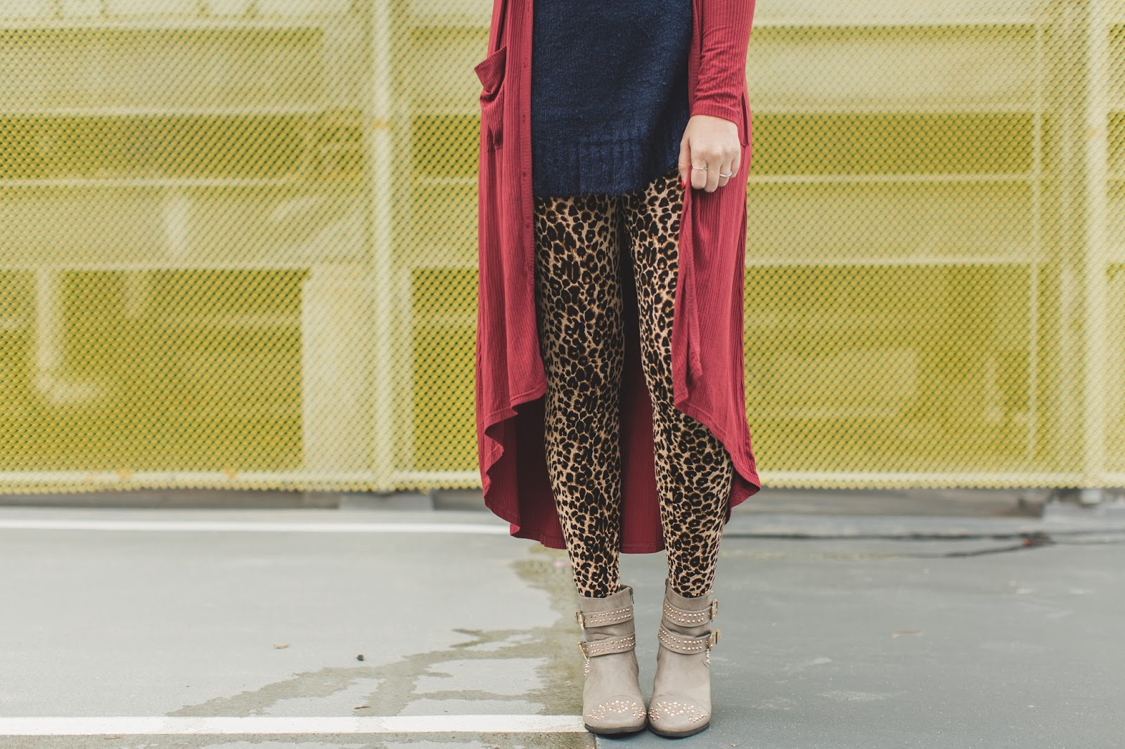 Leopard Leggings, Studded Boots, Utah Fashion Blogger
