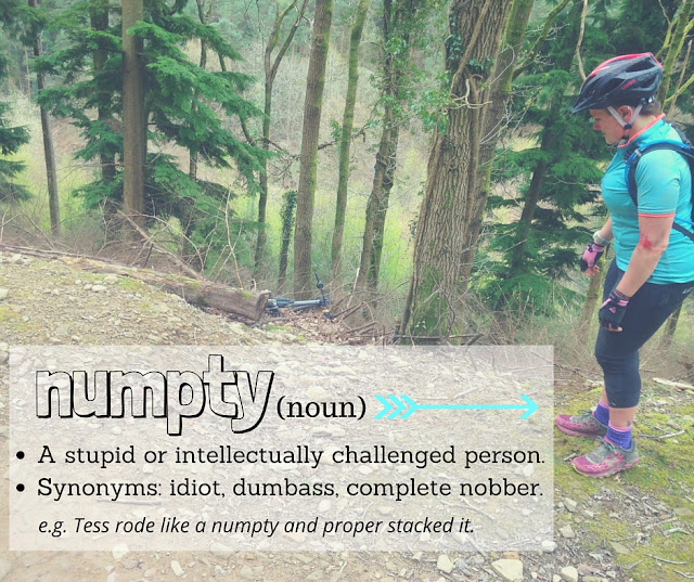 FitBits | Numpty definition - mountain bike fail - Tess Agnew