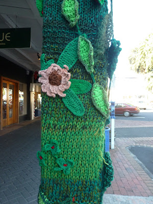 New Zealand, Devonport, woollypoles, yarn bombing