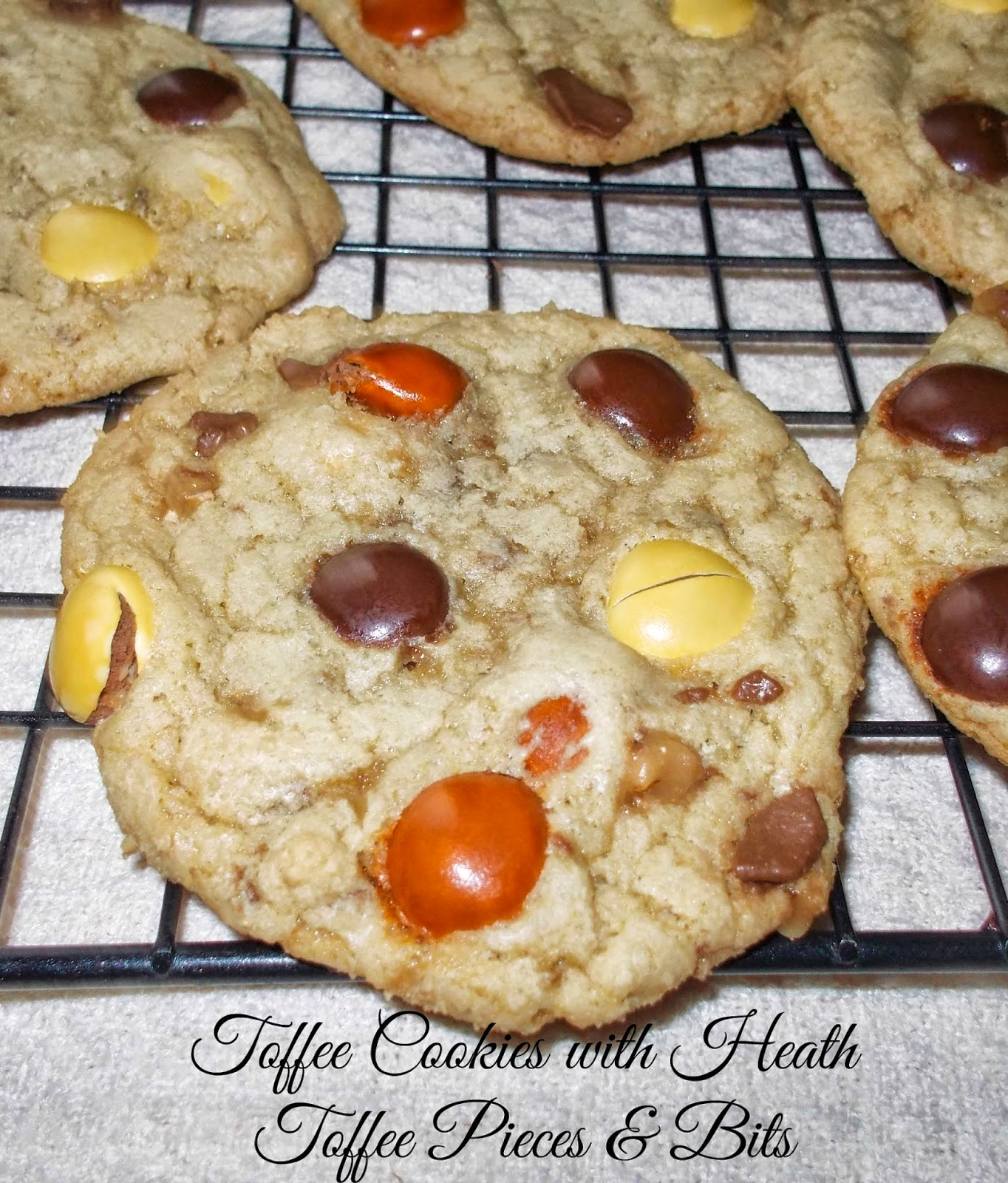 Toffee Cookies with Heath Pieces & Bits - Easy Life Meal & Party Planning